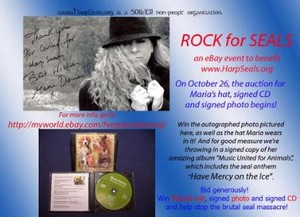 My hat in Ebay Auction for HarpSeals Today!!!