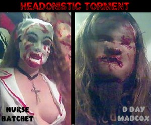 CHAINSAW SALLY SHOW 1rst V-BLOG featuring HEADONISTIC TORMENT song