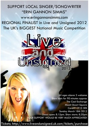 PLEASE COME VOTE FOR ERIN GANNON SIMMS SONGS at UNSIGNED TOP CHARTS