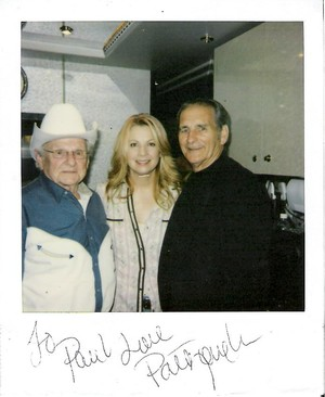 My hero is Jesus in pic. Dr. Ralph Stanley, Patty Loveless and me