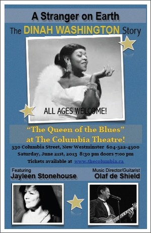 A performance of A Stranger on Earth, The Dinah Washington Story!
