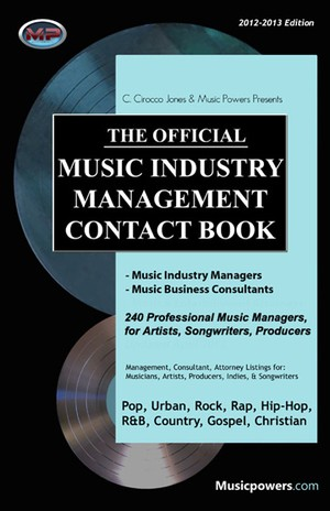 2012 Music Industry Management Contact Book by C. Cirocco Jones